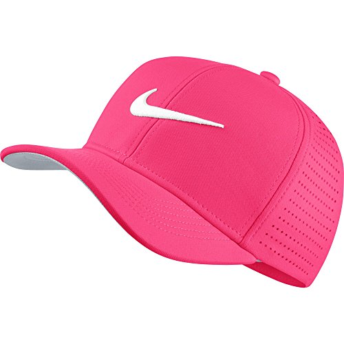 NIKE Youth Classic 99 Cap, Racer Pink/Wolf Grey/White, One Size