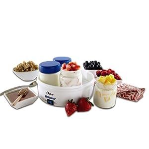 Oster CKSTYM1001 Mykonos Greek Manual Yogurt Maker, 1-Quart