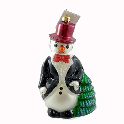 Christopher Radko SNOWGENT Glass Ornament Snowman Tux Christmas