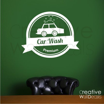 Vinyl Wall Decal Sticker Auto Car Wash Signboard Garage Man's Gift Boys R1843 (Car Wash Decal)