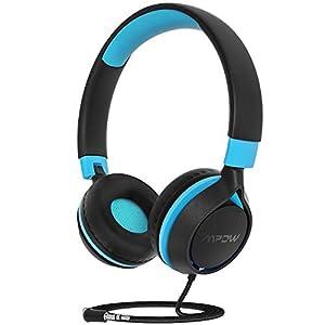 Mpow CHE1 Kids Headphones, Wired Headphones for Kids Teens Black Green