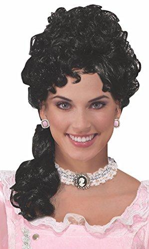 Forum Novelties 78091 Party Colonial Lady Belle Wig, Black ()