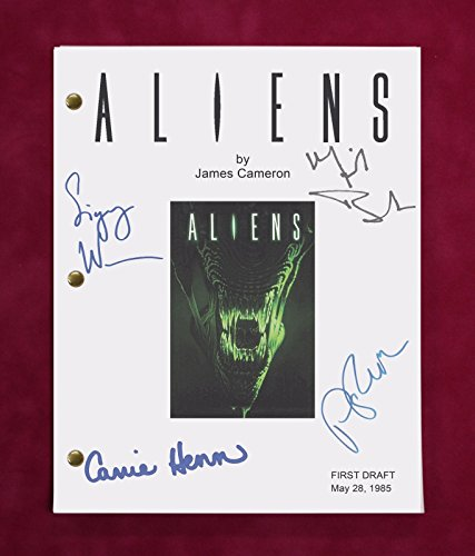 "ALIENS MOVIE SCRIPT W/ REPRODUCTION SIGNATURES WEAVER, BIEHN, & HENN ""C3"""