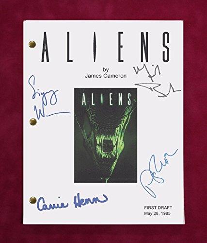 Aliens Movie Script w/Reproduction Signatures Weaver, Biehn, Henn C3