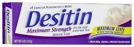 DESITIN Maximum Strength Diaper Rash Paste 4 oz (Pack of 4) by Desitin