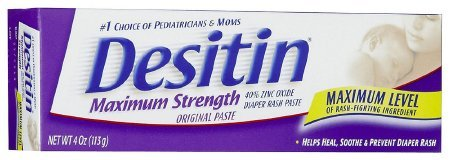 DESITIN Maximum Strength Diaper Rash Paste 4 oz ( Pack of 4)