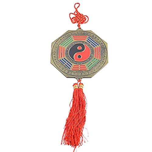 Big Feng Shui Bagua Mirror Tessal Ying Yang Charm+ Free Red String Bracelet Y1256