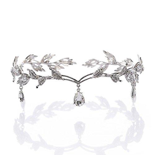 Pieces Headpiece - Crystal Headpiece Beaded Forehead Band Crystal Rhinestones Wedding Head Band Bridal Hair Accessorie Headpieces Silver