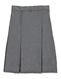 "Cookie's Brand Big Girls' Plus 3"" Box Pleat Skirt - Gray, 14"
