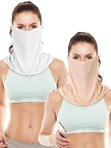 (2 Pieces Unisex Face Mask Sun Protective Face Cover Women UV Protection Mask for Summer Outdoor Activities for Women (Style 1))