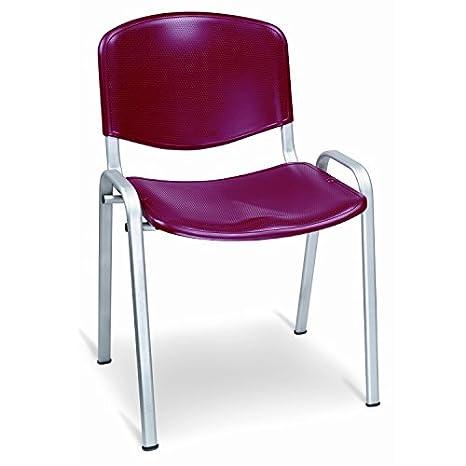 Sedie In Alluminio E Plastica.Sedia Da Ufficio Poltrona Fissa Per Sala Attesa In Alluminio