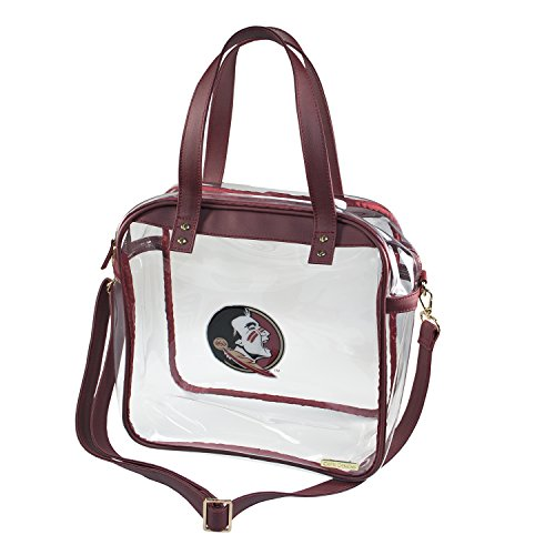 Florida State University Seminoles Capri Designs Clearly Fashion Licensed Clear Carryall Tote Meets Stadium Requirements by CAPRI DESIGNS