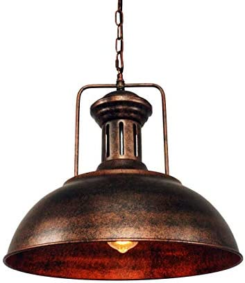 LMSOD Industrial Nautical Barn Pendant Light Single with Rustic Dome Bowl Shape Mounted Fixture Ceiling Lamp Chandelier