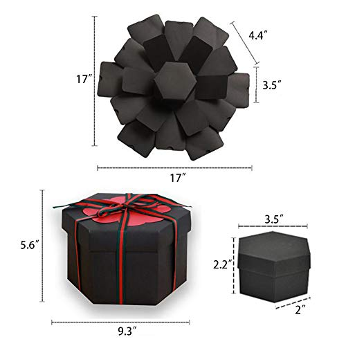Koogel Explosion Box Set,17.5 x 16inch Album Gift Box Creative Album Surprise Album Sticker Box for Marriage Proposals Making Surprises Birthday