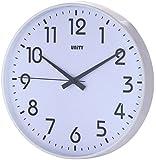 "Unnited 30cm/12"" Horloge Murale Silencieuse Fradley Moderne, Blanche"
