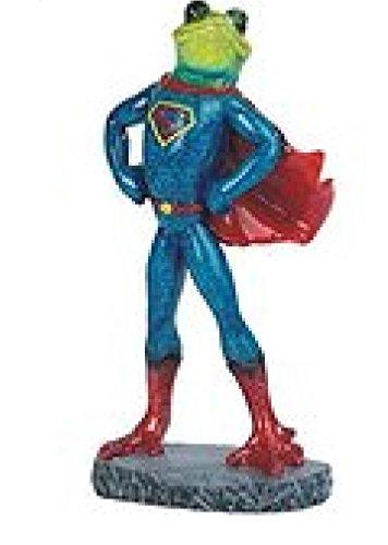 "StealStreet Frog in Superman Costume Figurine, 8.25"" from StealStreet"