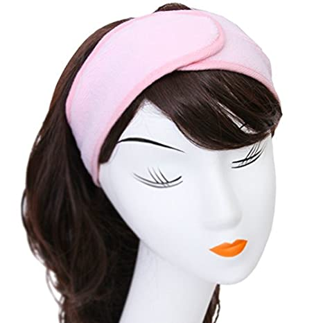 WeiMay Ladies Girls Makeup Wash Face Hair Stretch Elastic Adjustable Soft Band Beauty Cosmetic Headband (Blue)