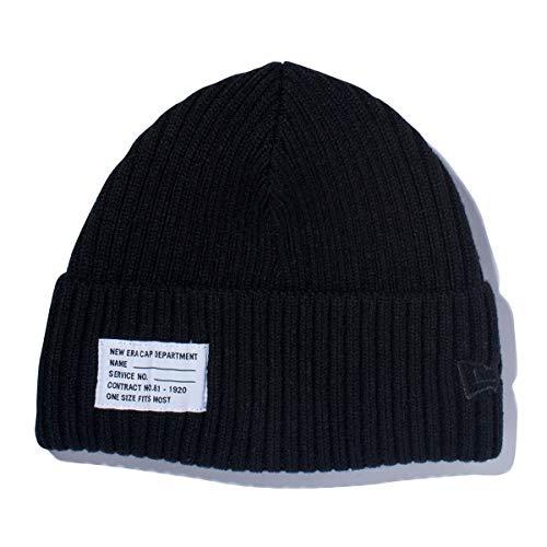 (ニューエラ) NEW ERA ニット帽 ミリタリー PATCH ブラック FREE