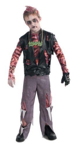 Zombie+Costumes Products : Boy's Zombie Punk Rocker #1 Costume