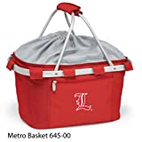PICNIC TIME 645-00-100-302-0 University of Louisville Embroidered Metro Picnic Basket, Red