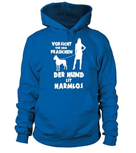IchLiebeHunde.com - Sudadera con capucha - para mujer azul real L