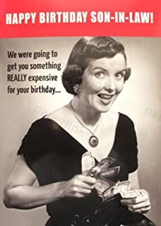Humorous Son In Law Birthday Card PLK9057