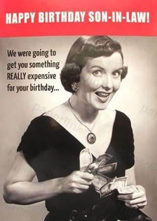 Humorous Son In Law Birthday Card PLK9057