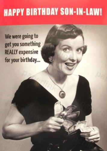 Humorous Son In Law Birthday Card Plk9057 Amazon Office