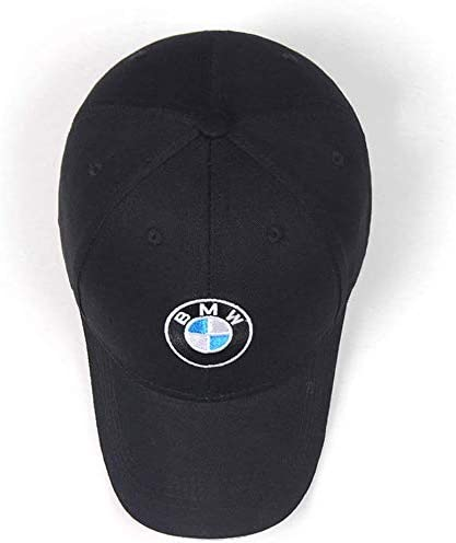 JDclubs BMW Logo Embroidered Adjustable Baseball Caps for Men and Women Hat Travel Cap Car Racing Motor Hat Black