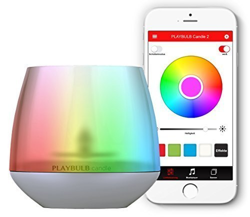 PengBO PLAYBULB Bluetooth Smart Color Changing Dimmable LED Light with APP Control, Party Decorative Lights for IOS and Android Smartphones, iPad, iPod, Tablets (Candle Light) Playbulb Lampada LED