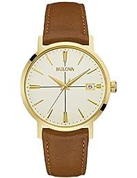 mens 97B151 20mm Leather Calfskin Brown Watch Bracelet