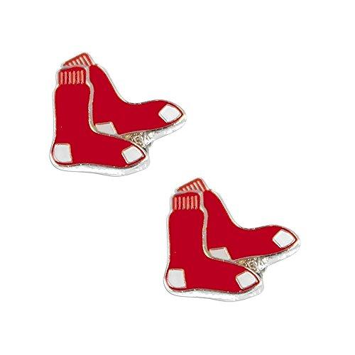 (Boston Red Sox Post Stud Logo Earring Set Mlb Charm)