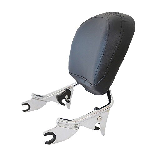 Detachable Sissy Bar - Detachable Sissy Bar w/ Backrest Pad Chrome for Harley Touring 2009-2018 17 16