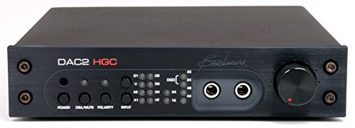 Benchmark Dac1 Converter - Benchmark DAC2 HGC - Black - Reference Stereo Preamplifier, PCM and DSD D/A Converter, Headphone Amp, Asynchronous USB