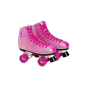Saica Patines de Bota con Cordones Color Rosa Purpurina 37 6993: Amazon.es: Juguetes y juegos