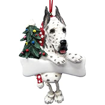 Harlequin Great Dane Ornament with Unique