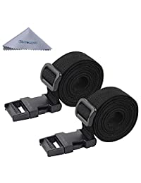 Luggage Strap, Wisdompro 2-Pack of Heavy Duty Straps - Utility Strap Adjustable Belt Accessories for Outdoor Sports, Backpacking, Sleeping Bag Compression with Molle Gear Quick Release Buckle - 48 inches