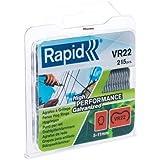 Rapid, 40108801, Agrafes de grillage galvanisées, VR22, 5-11mm, 215 pièces, Haute performance