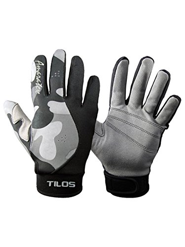Tilos 1.5mm Reef Gloves Stretchy Mesh with Amara Leather Good for Snorkeling, Kayaking, Water Jet Skiing, Sailing, Scuba Diving, Rafting
