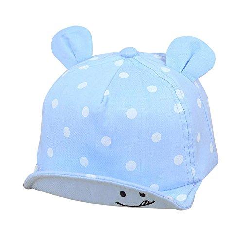 Tantisy ♣↭♣ Sun Hat Wave Point Cute Cartoon Caps Spring Summer Girls Boys Baseball Hat UPF 50+ Visors Light Blue
