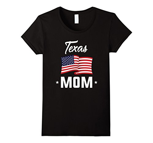 Womens Texas Mom T-Shirt Small Black