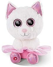 NICI 46864 GLUBSCHIS Knuffel Ballerina kat Jenabell, wit, 15cm
