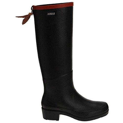 Aigle Womens Miss Juliette A Tall navy/red Rubber Boots 40 EU by Aigle