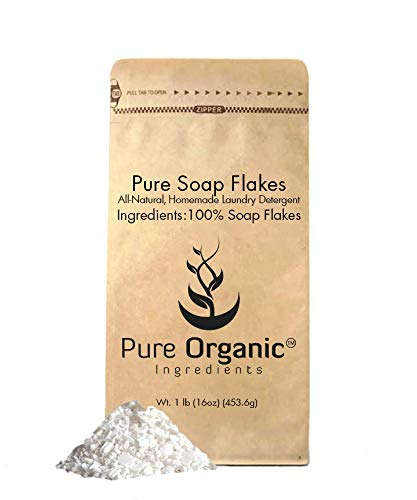 Soap Granule Flakes (1 lb.) by Pure Organic Ingredients, Eco-Friendly Packaging, Ingredient to Make Liquid or Powdered Homemade Laundry Detergent