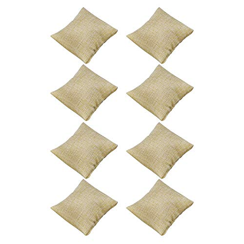 BCP Pack of 8 pcs Small Linen Bracelet Watch Pillow Jewelry Displays 3.5