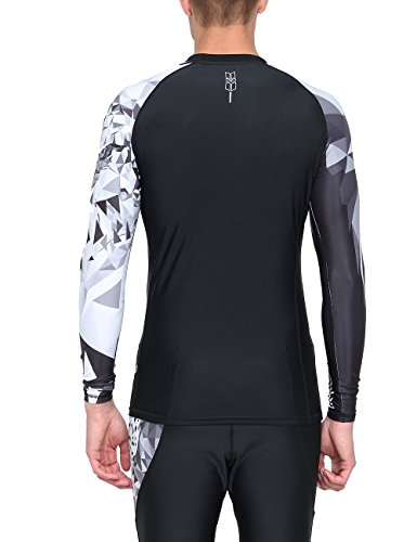 HUGE SPORTS Wildling Series UV Protection Quick Dry Compression Rash Guard (Eagle,M)