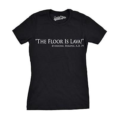 Womens Floor is Lava Funny T Shirts Cool Novelty Jokes Hilarious Nerd T Shirt