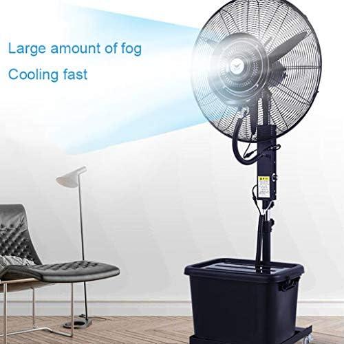 Standventilator mit Sprühnebel Luftbefeuchter/Standventilatoren/Sprühnebel ventilator outdoor/Ventilator Vernebler Außen Mikroklima Terrasse Garten Bar Wassertank 41 Liter