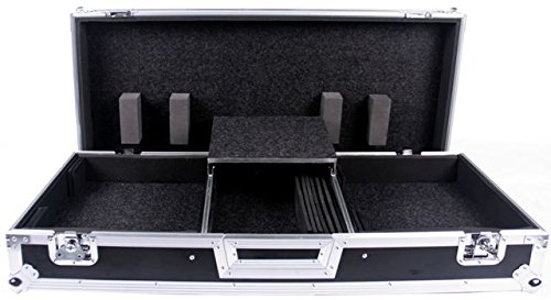 Battle Turntables - DEEJAYLED TBH Flight DJ Coffin CASE for 2X Turntables in Battle Style Position (TBHTTDJMS9WBTLT