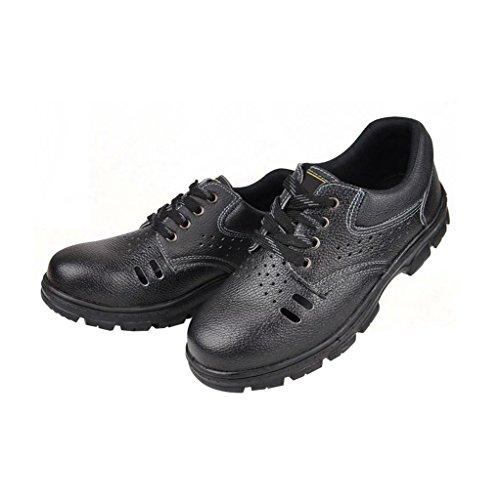 Chaussures De Sécurité Pour Hommes Optimale Chaussures De Travail Chaussures En Acier Comp Chaussures Respirant En Cuir Noir